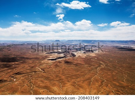 Island in the sky canyon in Canyonlands National park - stock photo