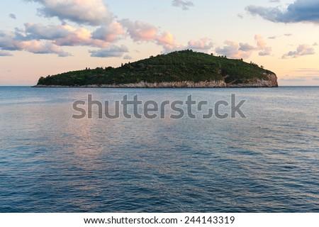 Island Lokrum near Dubrovnik, Croatia. - stock photo