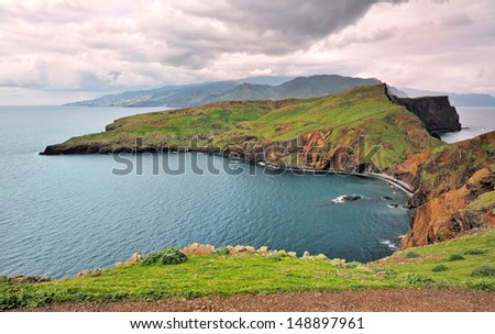 island madeira - stock photo