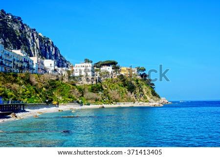 Island of Capri, Italy - stock photo