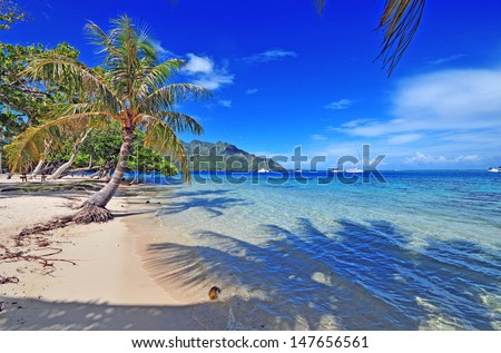 Island of Moorea in Tahiti, French Polynesia - stock photo