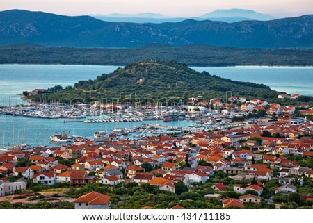 Island of Murter marina and bay view, Dalmatia, Croatia