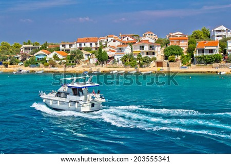 Island of Pasman coast yachting, Dalmatia, Croatia - stock photo