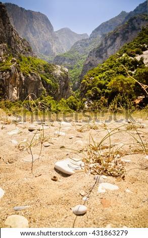 Island of Samos wild nature north-west corner, Greece. - stock photo