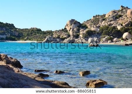 Island of Spargi - La Madddalena Archipelago - Sardinia - stock photo