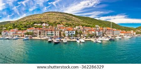 Island of Vis seafront panorama, Dalmatia, Croatia - stock photo
