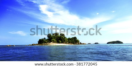 island on the sea