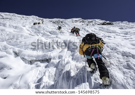 Island Peak(imja tse), Nepal - stock photo