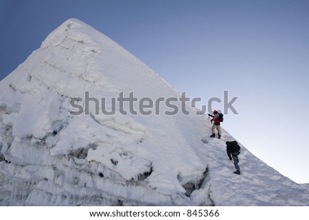 Island Peak Summit - Nepal - stock photo