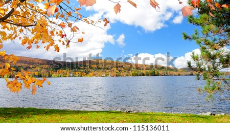 Island Pond, Brighton, Vermont, USA - stock photo
