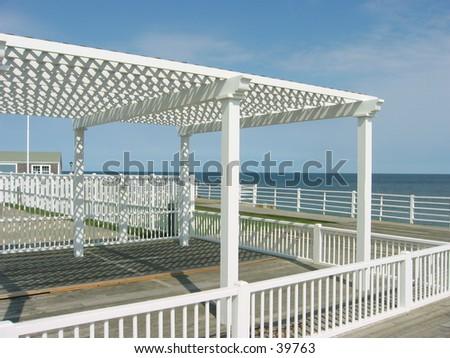 island resort closed for the season II, nantucket island - stock photo