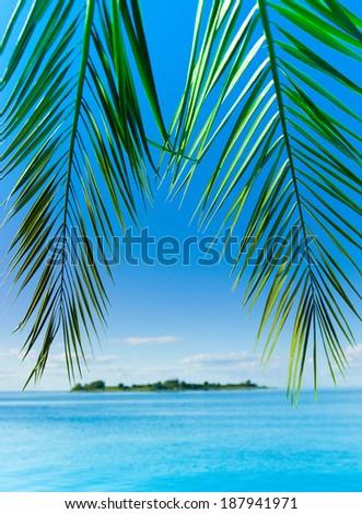 Island Resort Landscape  - stock photo