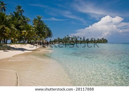 Island, San Blas, Panama. - stock photo