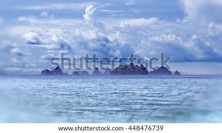 island scenery.Seascape in Thailand.Phuket beach - stock photo
