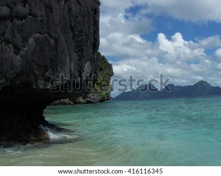 Island shores - stock photo