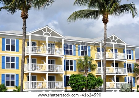 Island Style Architecture - stock photo