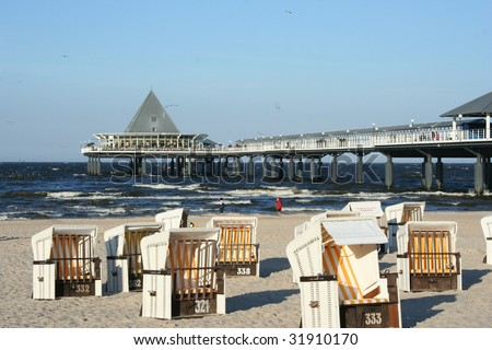 Island Usedom along the Baltic Sea in Germany - stock photo