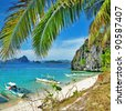 islands hopping - Palawan,Philippines - stock photo