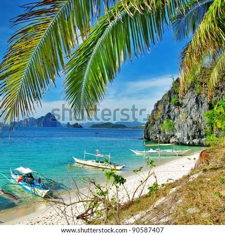 islands hopping - Palawan,Philippines - stock photo