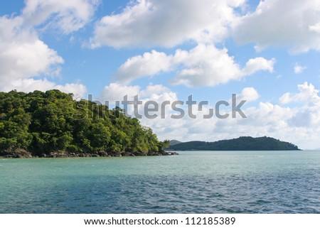 Islands in Andaman Sea Thailand - stock photo