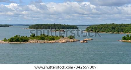 Islands in archipelago of Aland Islands, Finland - stock photo