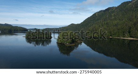 Islands in the Pacific Ocean, Skeena-Queen Charlotte Regional District, Haida Gwaii, Graham Island, British Columbia, Canada - stock photo