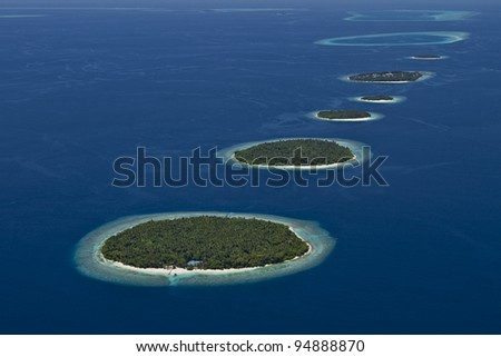 Islands In The Sea - stock photo