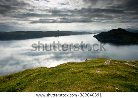 Isle of Skye, near Portree - stock photo