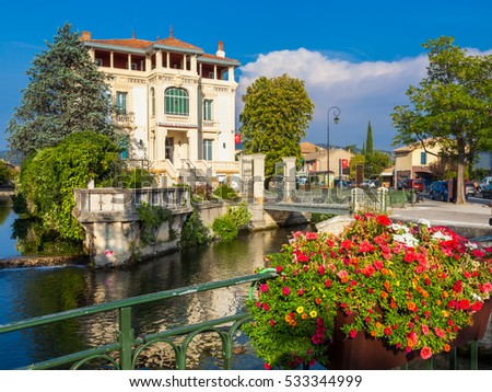 Isle sur la Sorgue town in Provence, Southern France.