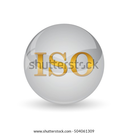 ISO icon. Internet button on white background.