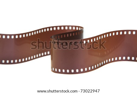 ISO 400 35mm classic negative film roll isolated on white - stock photo