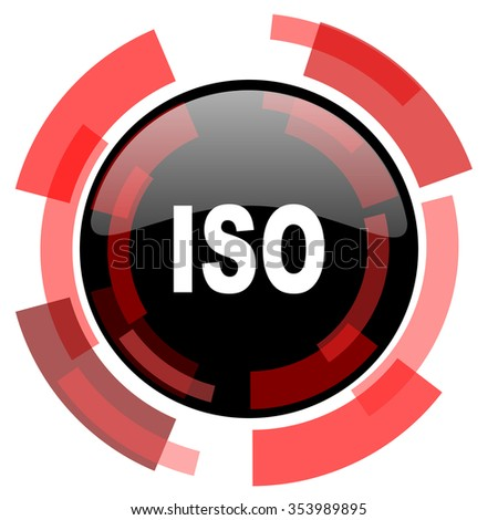 iso red modern web icon