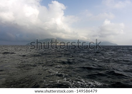 isola giglio - stock photo