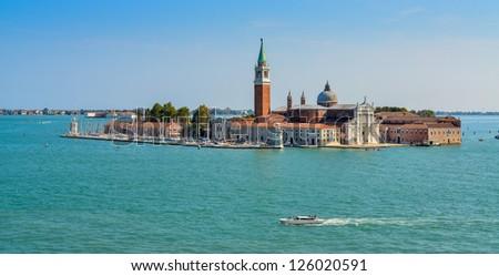 Isola San Giorgio Maggiore in Venice, Italy - stock photo
