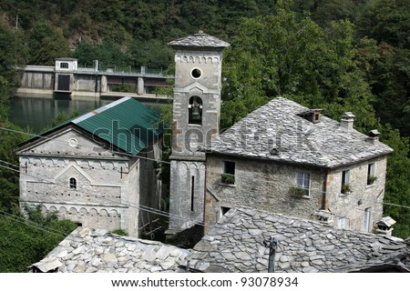 Isola Santa - The ancient medieval village. Tuscany , Italy - stock photo