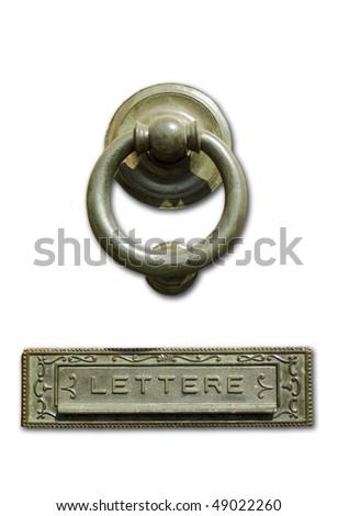 isolate doorknocker - stock photo