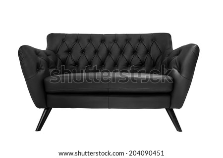 isolate modern leather sofa on white background