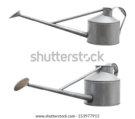 Isolate Retro Watering Pot - stock photo