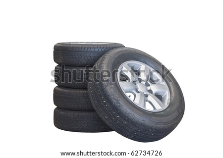 isolate tire on white background