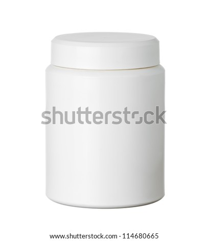 Isolate White Pill Bottle - stock photo