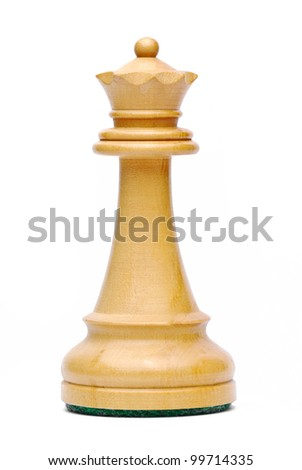 Isolate Wooden Queen Chess - stock photo