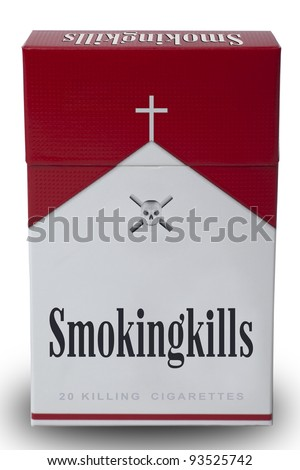 Isolated a pack of smoking kills cigarettes to mimic Marlboro