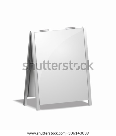 isolated advertising board for the street - stock photo