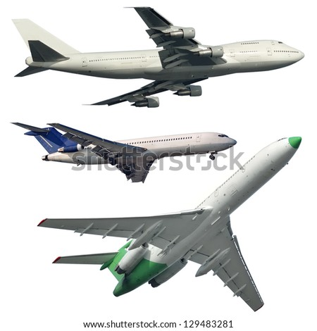 Isolated Aircrafts - stock photo