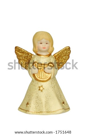 Isolated angel - Christmas decoration