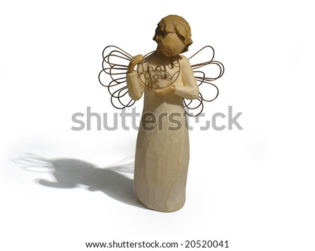 Isolated angel ornament - stock photo