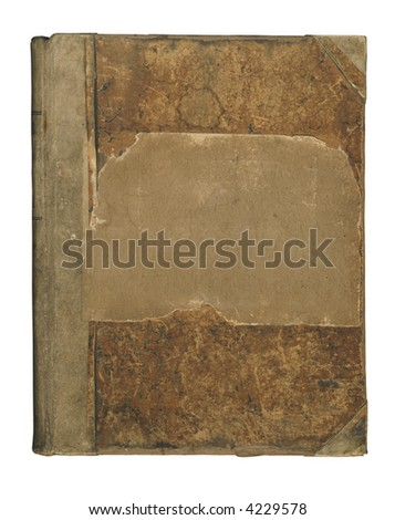 Isolated antique book cover. - stock photo