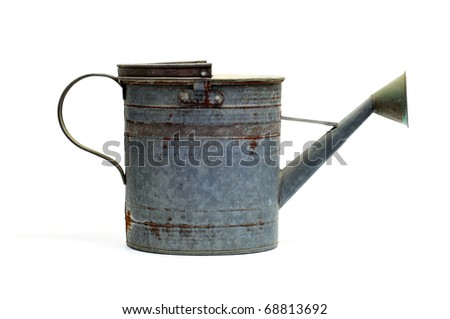 isolated antique sprinkler on a white background - stock photo