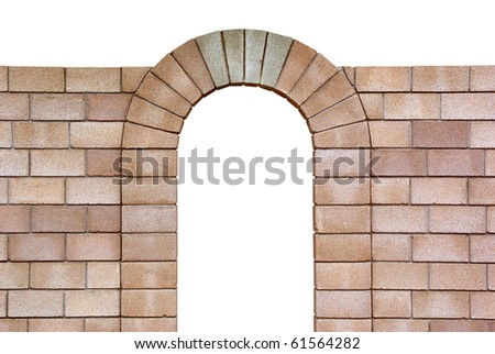 Isolated arch with. Objects with Clipping Paths. Element of design. - stock photo