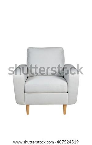 Isolated armchair - stock photo
